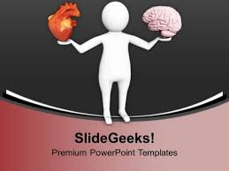 pay attention on heart and brain health powerpoint templates ppt