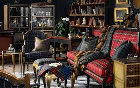 Tartan Chesterfield Sofa Plaid Furniture Kathy Kuo Home