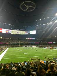 mercedes superdome mercedes superdome section 130 row 12 seat 5 orleans