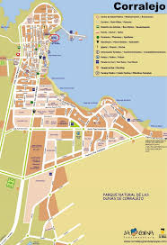 Map Spain Corralejo Tourist Map Maps Pinterest Maps Tourist Map And Spain