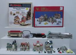 buy o scale porcelain lighted house set christmas village trolley