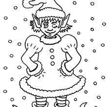 christmas elf coloring pages hellokids com