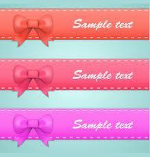 ribbons and bows blue and ribbon bows royalty free vector image