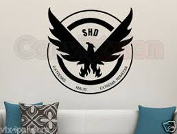 Gamer Home Decor The Division Wall Vinyl Decal Game Room Bedroom Home Decor Gamer
