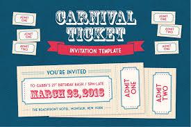 carnival ticket invitation template invitation templates