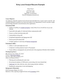 entry level resume exles entry level resume printable objectives summary exles of skills