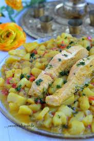 cuisiner le poivron tajine de saumon poivron pomme de terre recette du monde