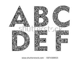 decorative made lettering ornamental font stock vector