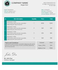 invoice template html code free excel templates