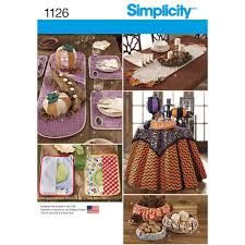 Sewing Patterns Home Decor Pattern For Table Accessories Simplicity
