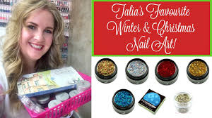 favourite winter u0026 christmas nail art products youtube