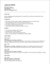 Culinary Arts Resume Sample by Culinary Resume Templates Culinary Resume Templates Entry Level