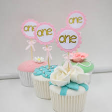 birthday cake toppers number one cupcake toppers with pink bow gold 1st birthday cake