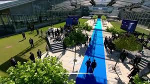 otan siege vidéo sommet de l otan brigitte macron a visité le musée