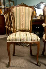 set of six side french dining room chairs style of linke for sale