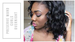 wand curled hairstyles short curly bob preserve wand curls overnight youtube