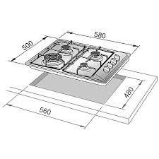 dimensioni piano cottura 5 fuochi il 46asv de longhi piano cottura 58x50 4 fuochi a gas inox piani