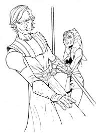 ahsoka anakin star wars coloring pages action coloring pages