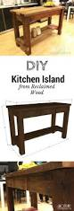Reclaimed Kitchen Island Best 10 Reclaimed Wood Kitchen Ideas On Pinterest Industrial