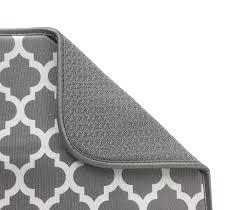 amazon com s u0026t microfiber dish drying mat xl gray u0026 white