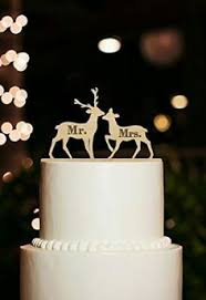buck and doe cake topper if you are looking for something a different for your big