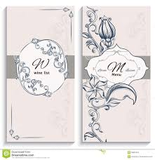 set floral ornament wine list and menu stock vector image 58981055