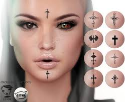 second life marketplace euphoric cross face tattoos catwa