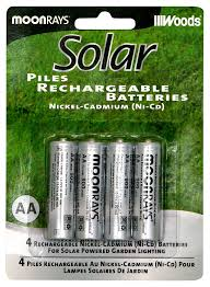 moonrays rechargeable nicd batteries for outdoor solar powered