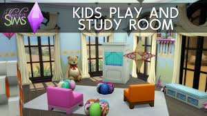 the sims 4 room build kids play and study room youtube