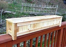 planters for deck railing buy garden 6 inch round metal deck rail