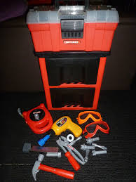 my first craftsman deluxe rolling tool box set for kids w tools