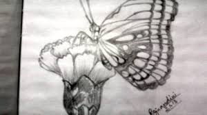 pencil drawings of flowers and butterflies drawing ideas that are