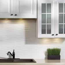 Fasade Waves Matte White  In X  In Backsplash Panel Free - Backsplash panel