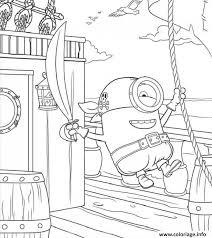 Coloriage Minion Sur Unbateau De Pirate dessin