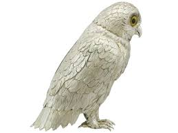 sterling silver owl ornament by israel freeman and for sale