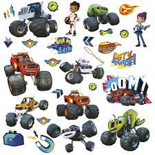 Behind The Bedroom Wall Kindle Amazon Com 28 Blaze And The Monster Machines Wall Decals Trucks