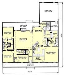 country style house plan 4 beds 3 baths 3029 sq ft plan 44 129
