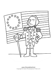 coloring coloring page george washington