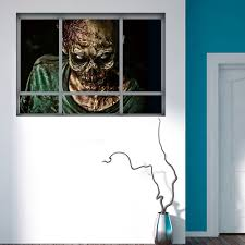 halloween 3d horrible zombie fake windows sticker bedroom living halloween 3d horrible zombie fake windows sticker bedroom living room haunted house decor ghost wall stickers