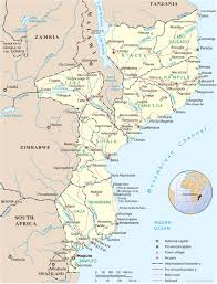 Gabon Map Map Of Mozambique Travel Africa