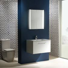 illuminated bathroom mirror cabinet with wire free demister heat