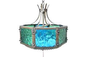 Teal Glass Chandelier Antique Stained Glass Chandelier Patterns Home Design Ideas