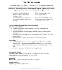 Customer Service Rep Resume Sample Supermarket Cashier Job Description Resume Free Resume Example