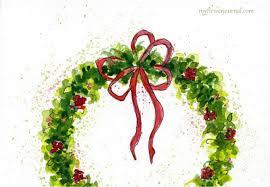 christmas cards watercolor christmas lights decoration