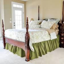 Bed Frame Skirt Solid Color Gathered Bed Skirt Easyon Design For Easy