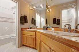 Large Mirrors For Bathroom Vanity - wooden bathroom vanity cabinet with two sinks and large mirror