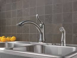 Wall Mount Kitchen Faucet With Spray by Delta Linden Single Handle Deck Mounted Kitchen Faucet With Spray