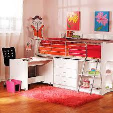 Half Bunk Bed Charleston Storage Loft Bed With Desk White Walmart