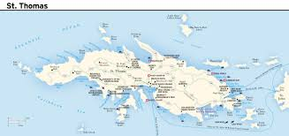 map usvi large road map of st island us islands with other