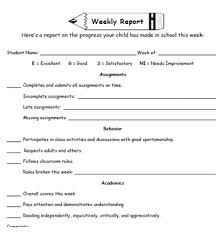 elementary progress report template weekly progress report form academic behavior progress by
